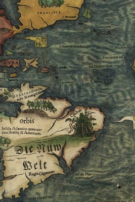 16th Century Map of South America - A Poetose Notebook / Journal / Diary (50 pages/25 sheets)