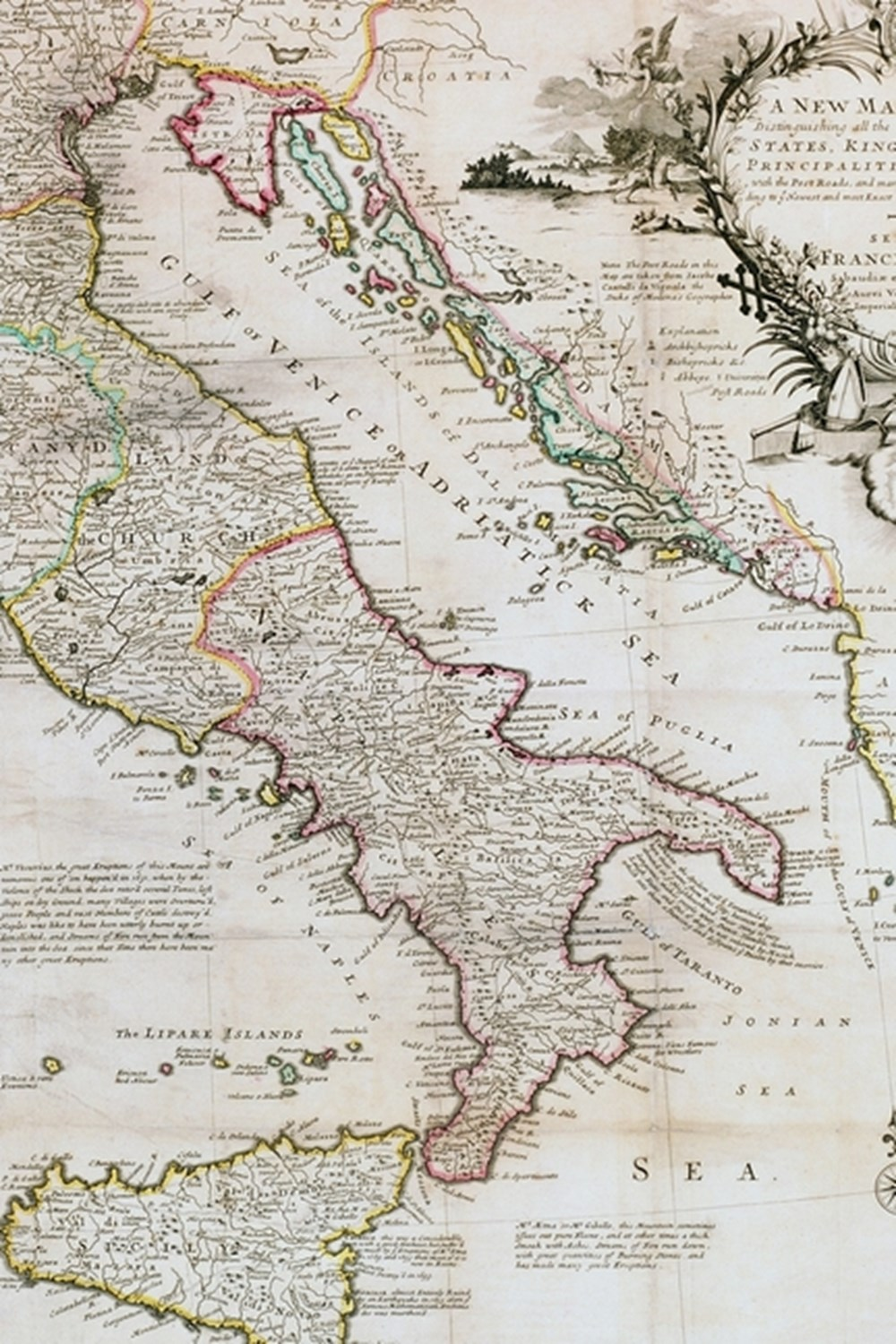 1714 Map of Italy - A Poetose Notebook / Journal / Diary (50 pages/25 sheets)