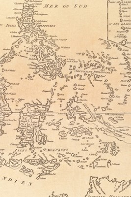 1781 Map of Indonesia, the Philippines, and Malaysia - A Poetose Notebook / Journal / Diary (50 pages/25 sheets)