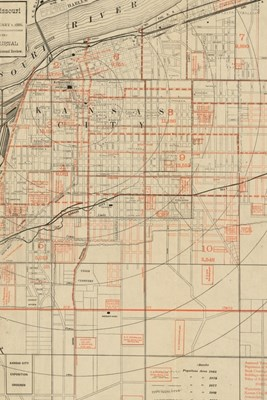 1886 Map of Kansas City, Missouri - A Poetose Notebook / Journal / Diary (50 pages/25 sheets)