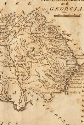 1806 Map of Mississippi Territory and Georgia - A Poetose Notebook / Journal / Diary (50 pages/25 sheets)