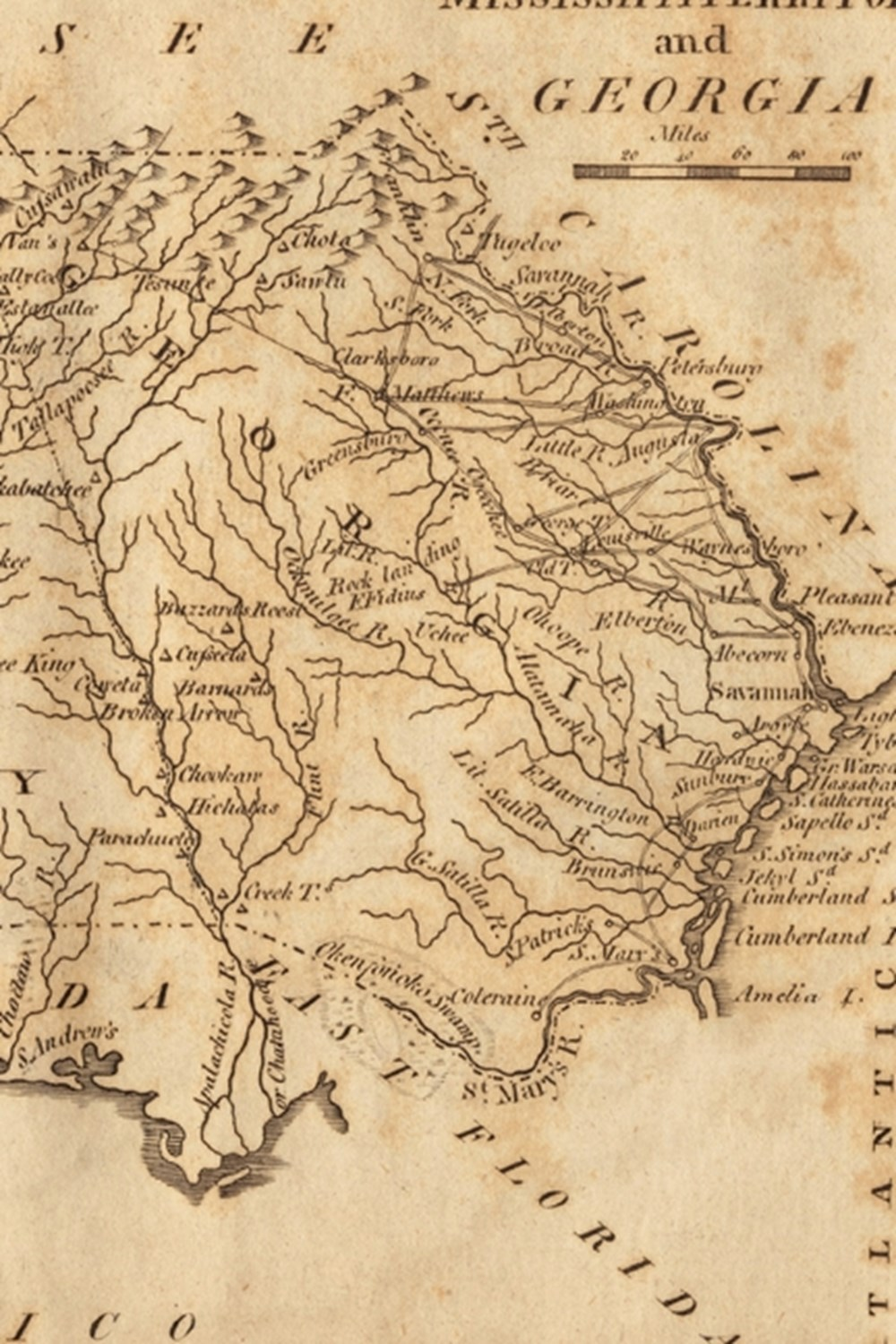 1806 Map of Mississippi Territory and Georgia - A Poetose Notebook / Journal / Diary (50 pages/25 sh