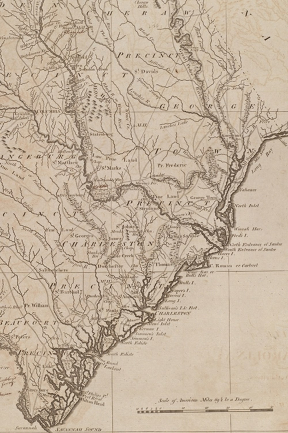 1800 Map of South Carolina - a Poetose Notebook / Journal / Diary (50 Pages/25 Sheets)