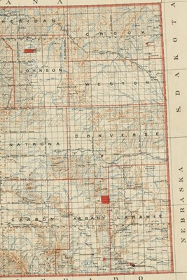 1892 Map of Wyoming - a Poetose Notebook / Journal / Diary (50 Pages/25 Sheets)
