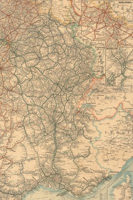 1906 Map of France Showing Railways - a Poetose Notebook / Journal / Diary (50 Pages/25 Sheets)