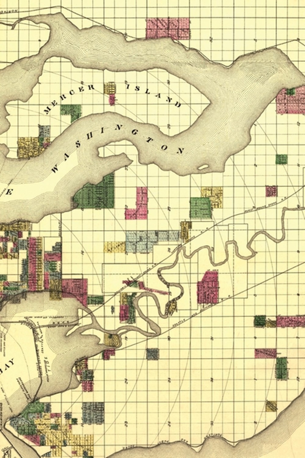 1890 Map of Seattle, Washington - a Poetose Notebook / Journal / Diary (50 Pages/25 Sheets)