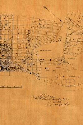 19th Century Map of Nashville, Tennessee - A Poetose Notebook / Journal / Diary (50 pages/25 sheets)