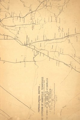 19th Century Topographical Map of Nashville, Tennessee - A Poetose Notebook / Journal / Diary (50 pages/25 sheets)