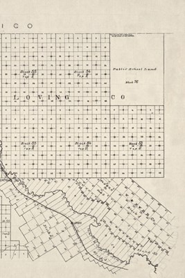 19th Century Map of El Paso County, Texas - a Poetose Notebook / Journal / Diary (50 Pages/25 Sheets)