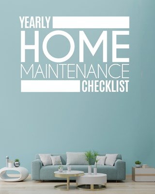 Yearly Home Maintenance Check List: Yearly Home Maintenance For Homeowners Investors HVAC Yard Inventory Rental Properties Home Repair Schedule