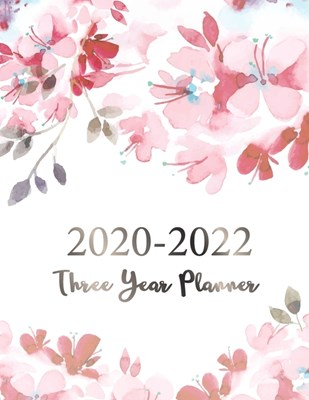 2020-2022 Three Year Planner: Girly Pink Marble Cover - Plan and Schedule Your Next Three Year Appointment Book - 36 Months Calendar Agenda and Orga