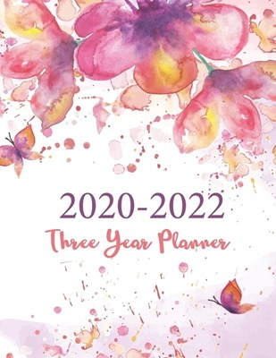 2020-2022 Three Year Planner: White Marble Cover - 3-Year Planner - 36 Months Calendar Agenda and Organizer Logbook and Journal Personal - Plan and