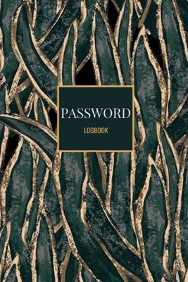 Password Logbook: Dark Green Gold Mermaid Effect Email Password Organizer with Alphabetical Tabs, Password Keeper Book, Passcode Diary,