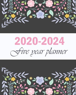2020-2024 Five Year Planner: Sunflower And Line Gold, Five Year with Holidays and Inspirational Quotes, Monthly Schedule Organizer Agenda Journal