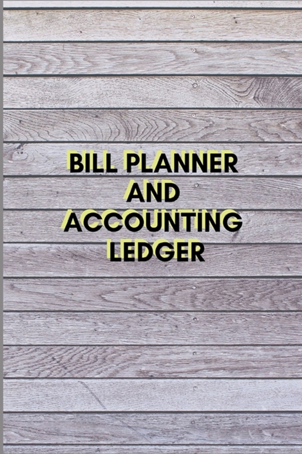 Bill Planner and Accounting Ledger Simple Balance sheet or Cash Book Accounts Bookkeeping Journal fo
