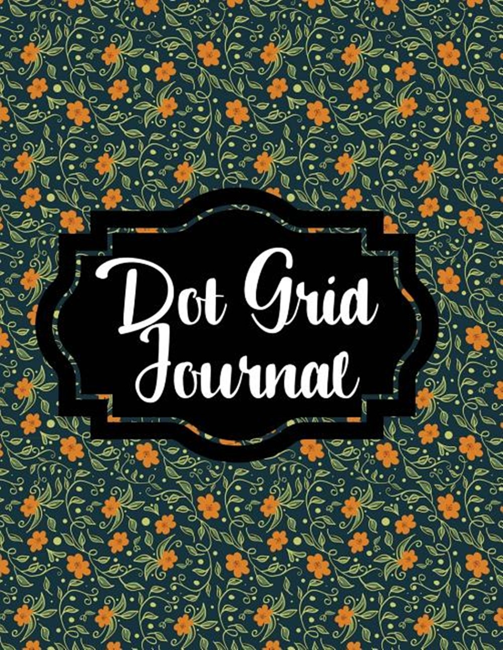 Dot Grid Journal Floral Print, 200 Pages, Dot Grid, 8.5x11, Matte