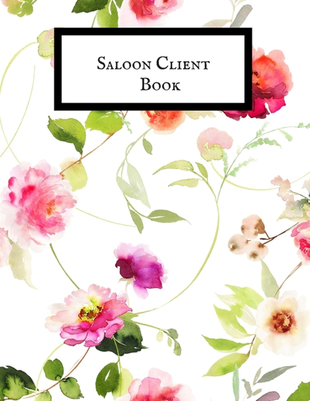 Saloon Client Book Smart A-Z Alphabetical Client Tracker- Professional Business To do list Book for