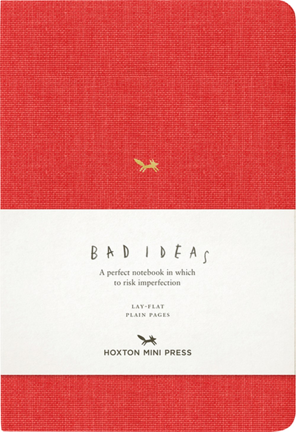 Notebook for Bad Ideas Red/Unlined: A Perfect Notebook in Which to Risk Imperfection