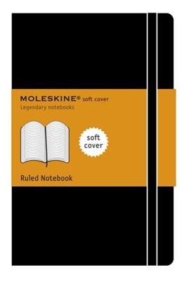 Moleskine Classic Notebook, Large, Ruled, Black, Soft Cover (5 X 8.25)